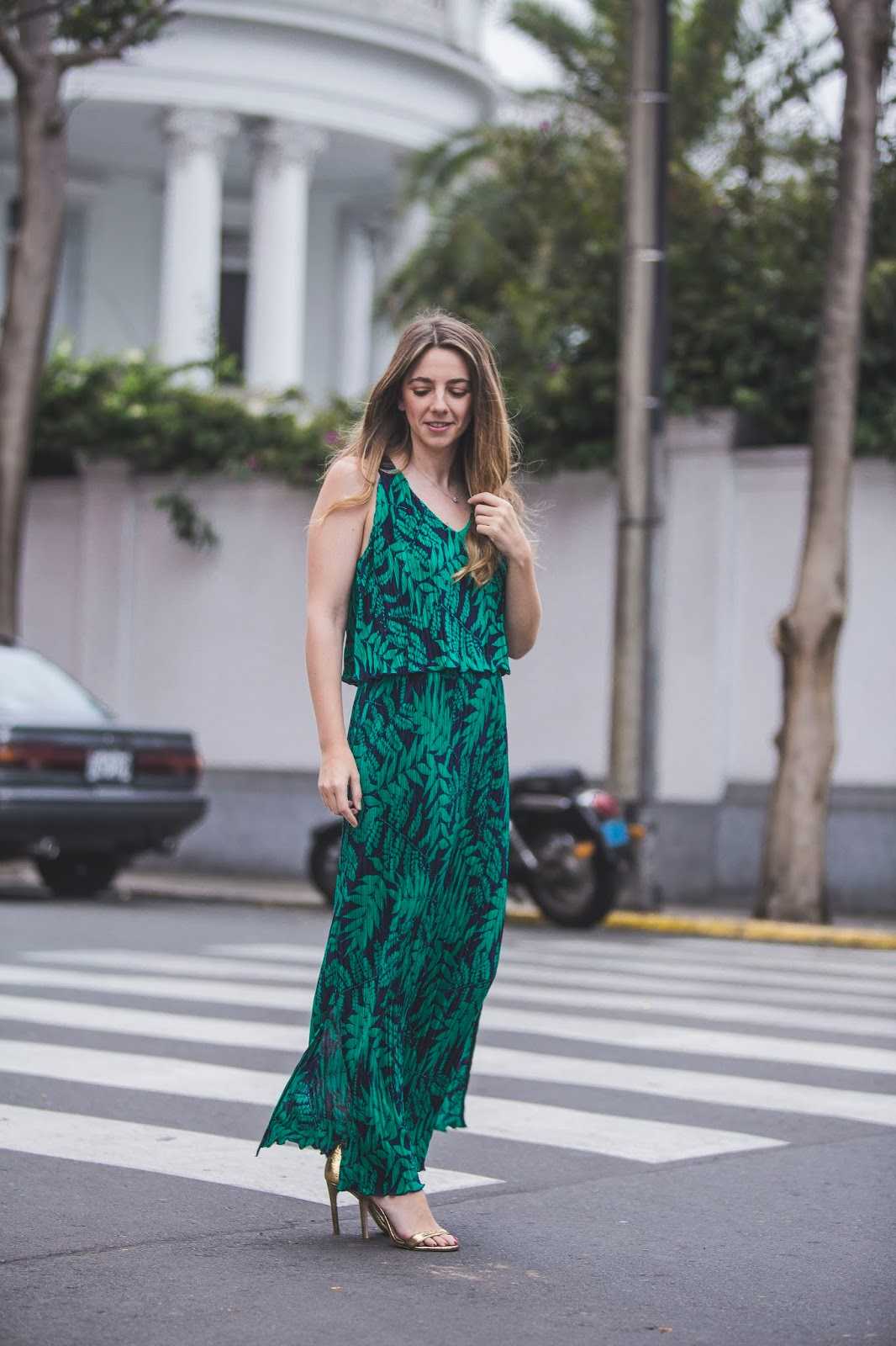 Sandalias para vestido verde