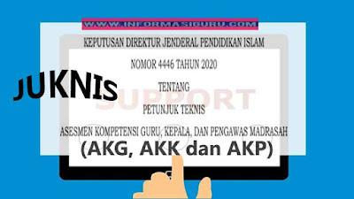 Download SK Ditjen Pendis Nomor 4446 Tahun 2020 tentang Juknis Asesmen Kompetensi Guru, Kepala dan Pengawas (AKG, AKK dan AKP) Madrasah Tahun 2020