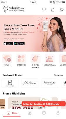 Fitur-fitur di Whizliz Mobile Apps yang memudahkanmu belanja perhiasan