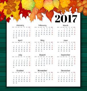 2017カレンダー無料テンプレート87