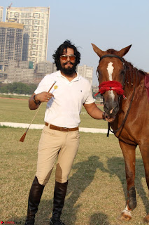 Randeep Hooda with a beautiful Horse at Show Jumping At Race Cource 24th March 2017