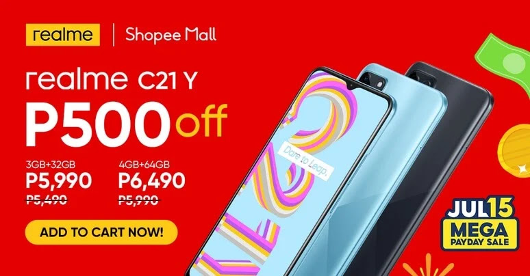 realme C21Y Now Officially Available for Only Php5,990; Php500 OFF on July 15