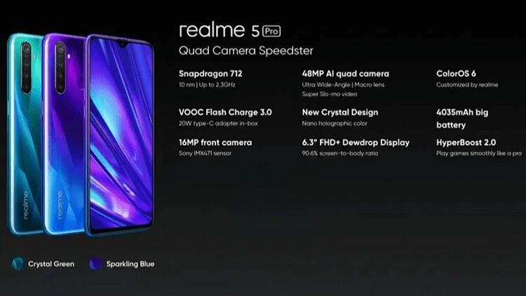 Realme 5 Pro Key Specs