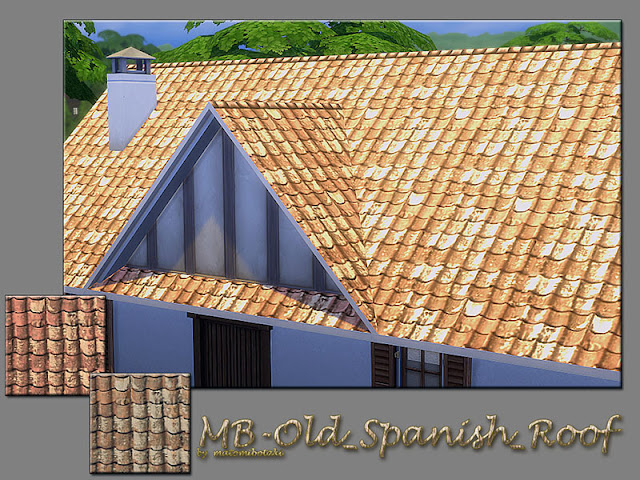 Покрытия крыши для The Sims 4 со ссылками на скачивание