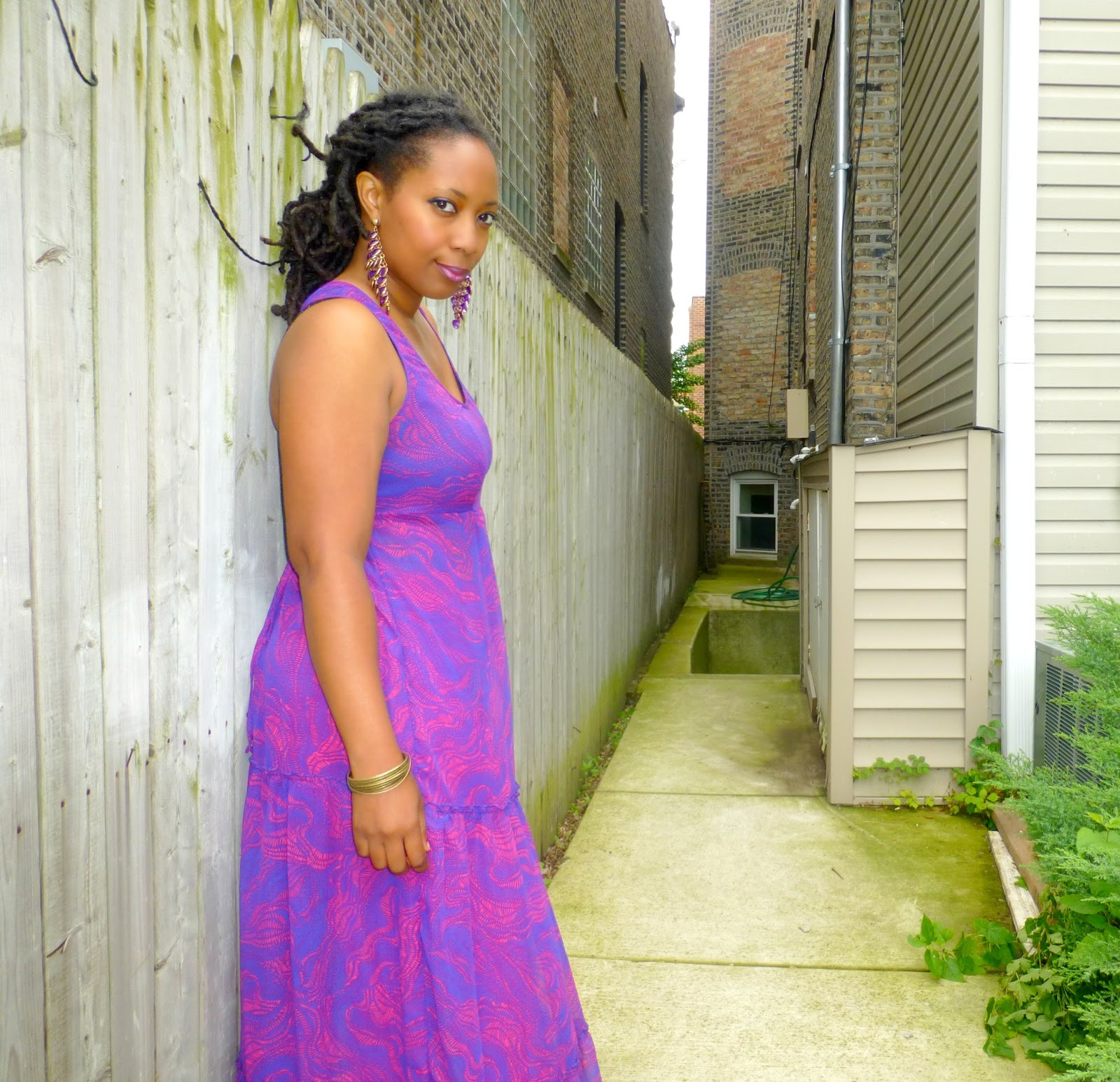 thrift and style sheer maxi dress