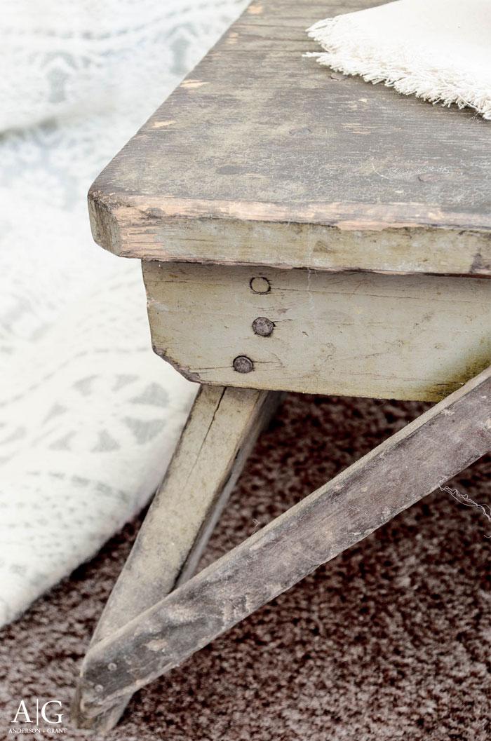 Rustic antique stool