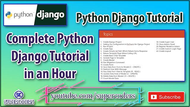 Python Django Complete Cheatsheet Tutorial | All the Basic Example of Django
