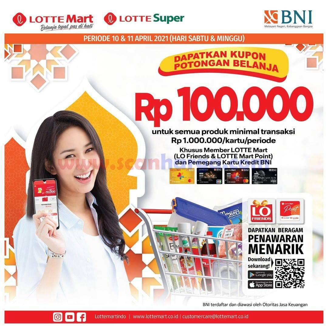 Lottemart Kupon Potongan Belanja Rp 100.000,- Transaksi dengan Kartu Kredit BNI