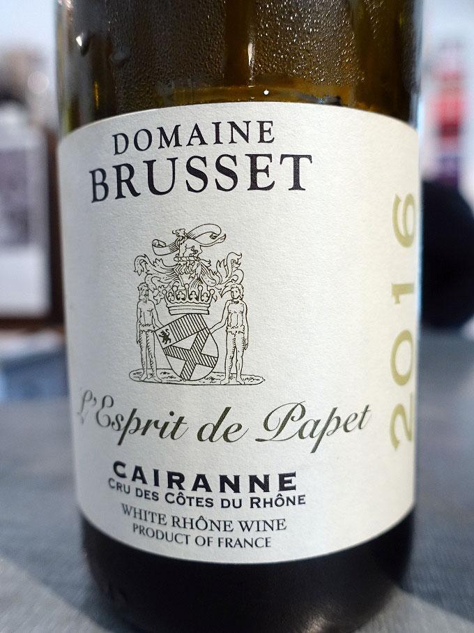 Domaine Brusset L'Esprit de Papet Cairanne 2016 (90+ pts)