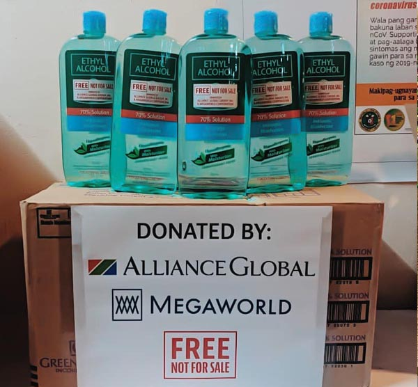 megaworld - covid-19 - bacolod city - face masks- disinfectant alcohol - alcohol boxes in warehouse, bacolod blogger, free alcohol