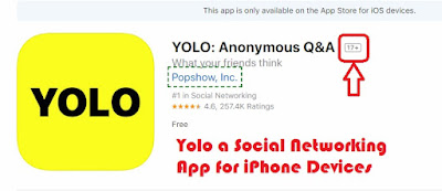 Yolo a Social Networking App for iPhone Devices