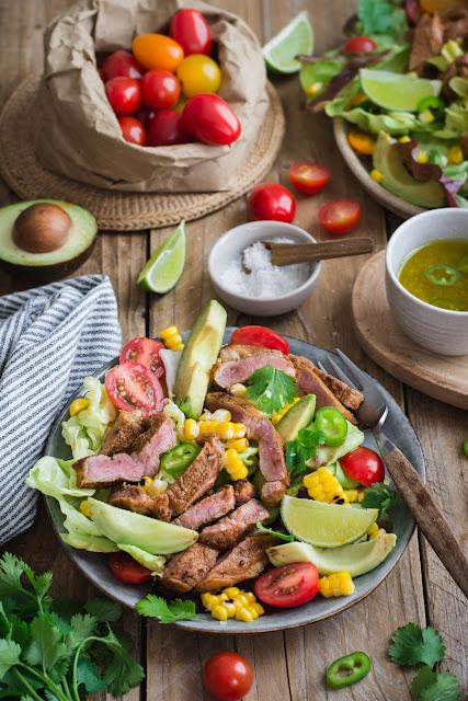 Salade mexicaine à l'agneau