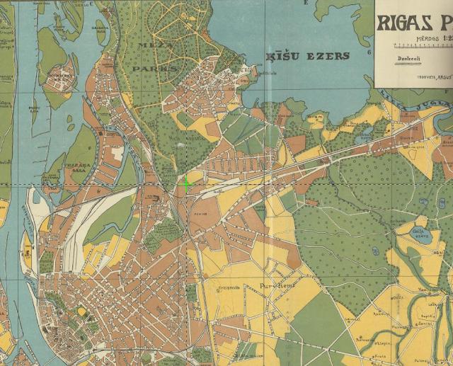 Карта Риги 1925 года межапарк