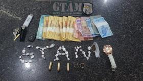GTAM prende casal de traficantes com drogas e munições em Chapadinha