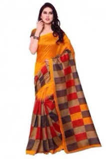 Bhagalpuri Silk Casual Wear Printed Saree In Multicolour
