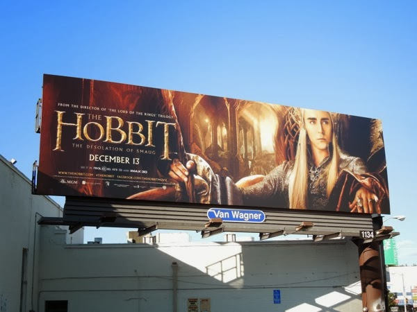 Hobbit Desolation of Smaug Thranduil billboard