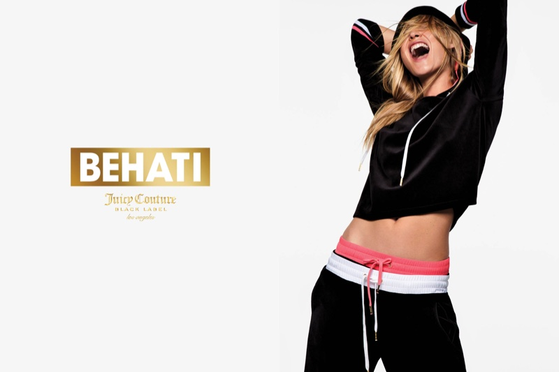 Behati Prinsloo is sporty for her Juicy Couture Collection