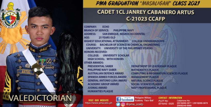 Cadet 1st Class Janrey Artus
