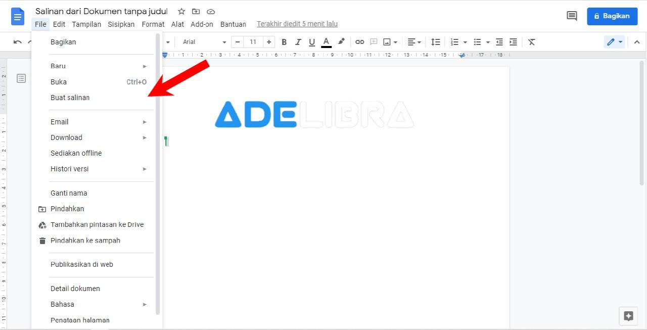 Menyimpan Dokumen Sebagai Template Google Docs