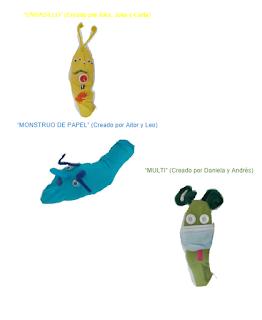 marionetas con material reciclado