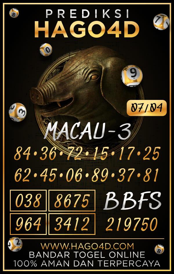 Hago4D - Prediksi Togel Toto Macau P3