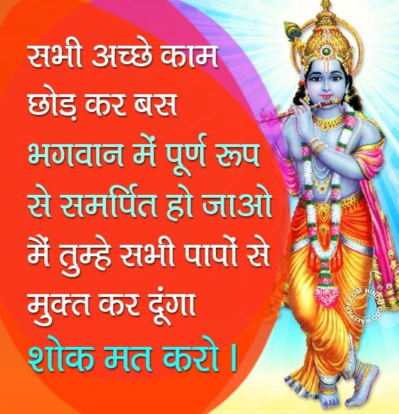 Lord Shree Krishna Quotes In Hindi श र क ष ण