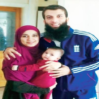 Moeen Ali And His Wife Firoza And His Kid