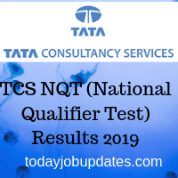 TCS NQT (National Qualifier Test) Results 2019