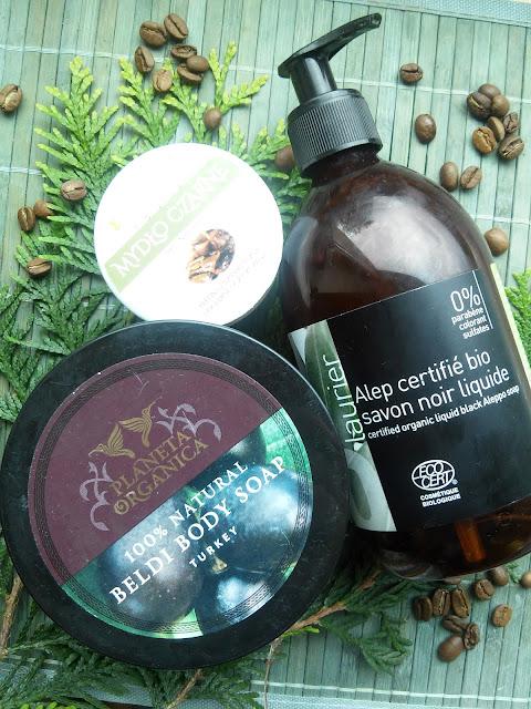 Mydła z oliwek: Savon Noir Nacomi, Tureckie Beldi Planeta Organica, Aleppo Tade + pumeks Hamman