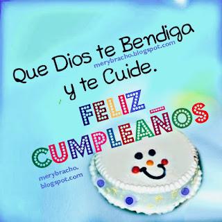 frases cristianas Dios te bendiga cumpleaños para ti
