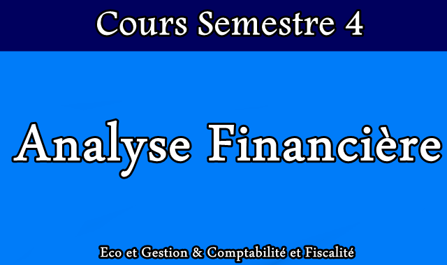 Cours Analyse Financière S4