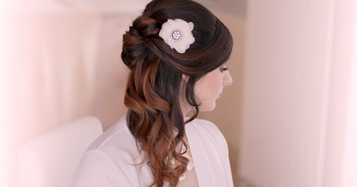 Hairstyles For Short Hair Half Up Half Down: Chimakadharoka2012: Wedding Hairstyles For Short Hair Half