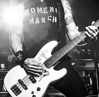 Women's March shirt as worn by Duff McKagan GNR.  PYGear.com