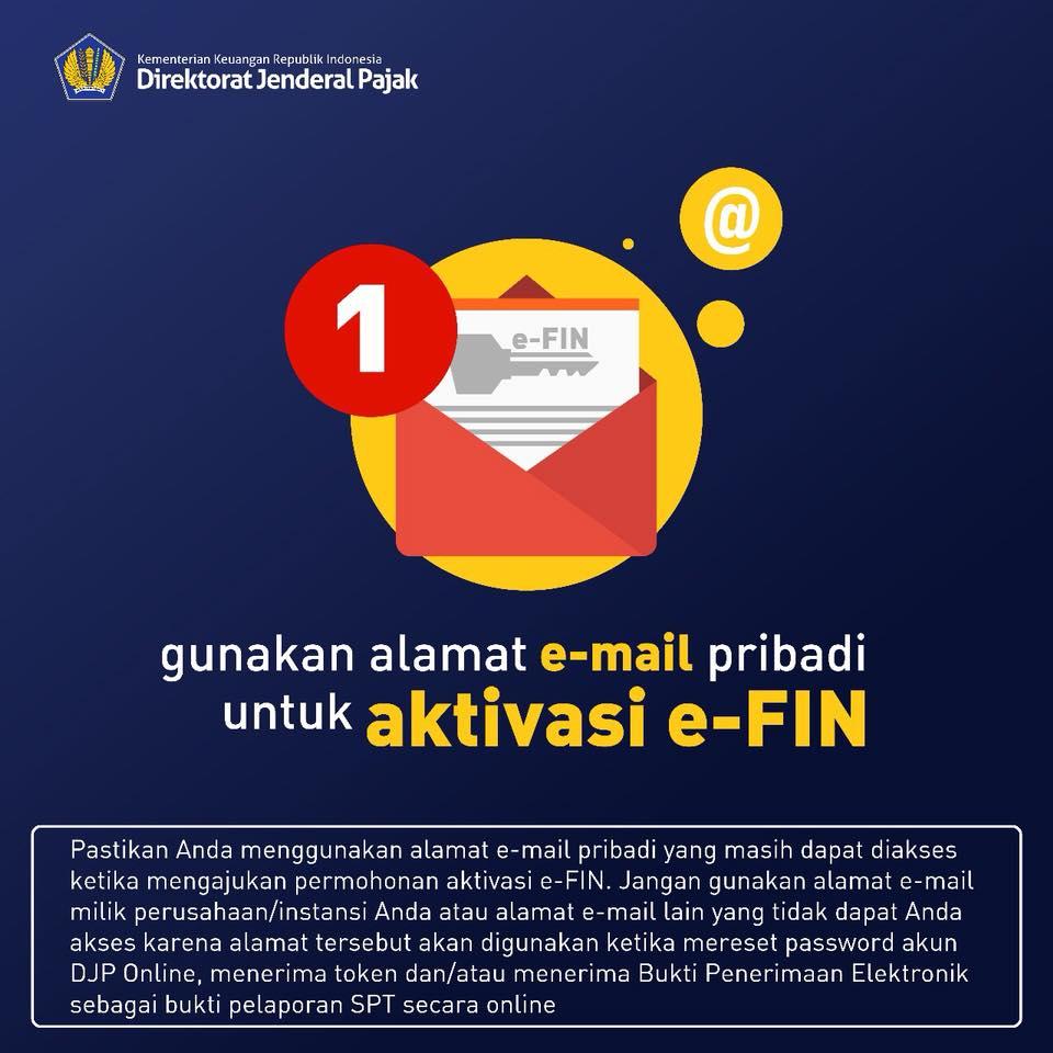 email aktif dan EFIN Pajak