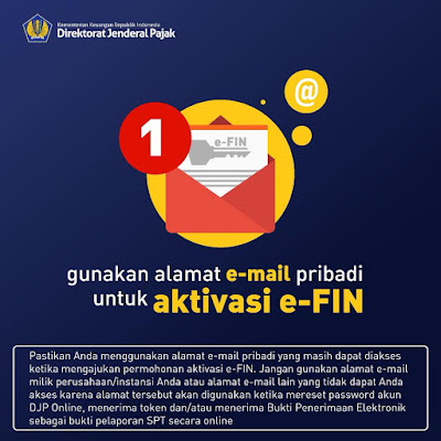 email aktif dan EFIN Pajak DJP Online