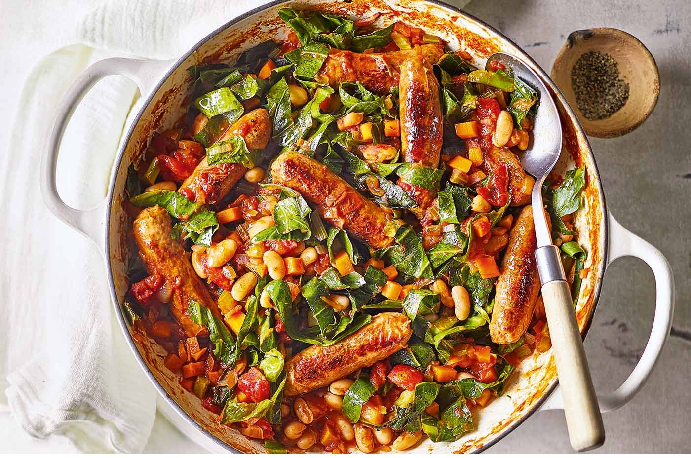 Sausage And Cannellini Bean Casserole