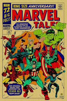 MondoCon 2019 Exclusive Silver Age of Marvel Comics Screen Print by Johnny Dombrowski x Mondo