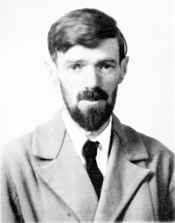 Black and white photo of D. H. Lawrence