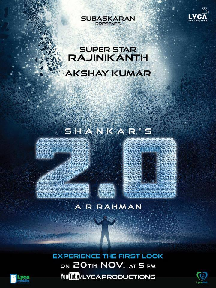Akshay Kumar, Amy Jackson, Rajinikanth New Upcoming 2016 movie Robot 2 latest poster release date star cast