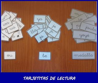 TARJETITAS DE LECTURA