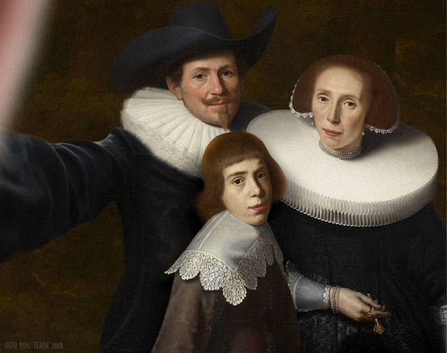 Family Portrait Of A Gentleman And His Wife And Son - Dirck Van Santvoort, 1635