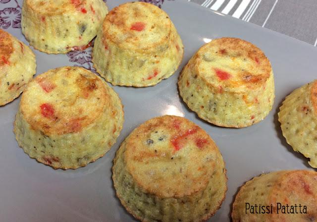 muffins aux légumes, recette de muffins semoule et légumes, végétarien, recette végétarienne, muffins aubergine et poivron, muffins salés, entrée, recette pour buffets, vegetarian recipe, muffins salés, patissi-patatta