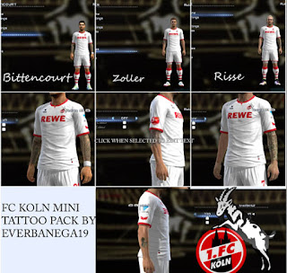 Koln Mini Tattoo Pack 2016 Pes 2013
