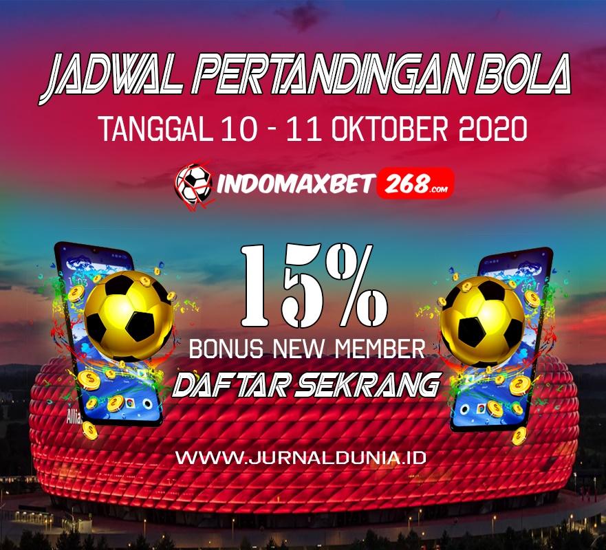 Jadwal Pertandingan Sepakbola Hari Ini, Sabtu Tgl 10 - 11 Oktober 2020