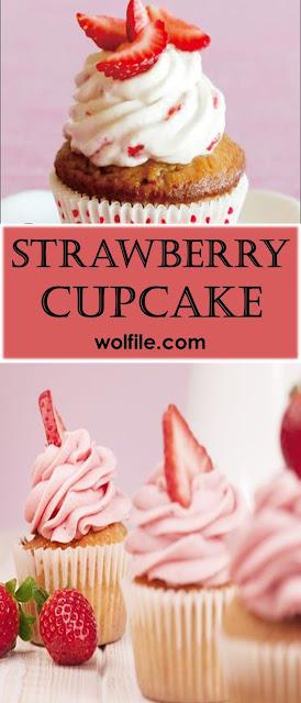 Strawberry Cupcakes Recipe #Cupcake #Cake