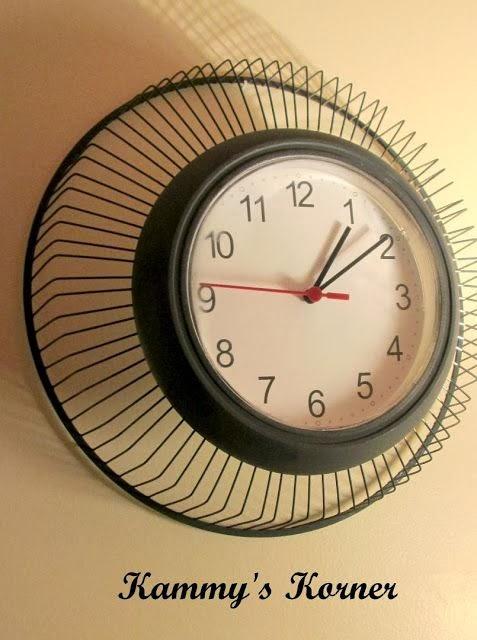 Relógio feito com ventilador - DIY