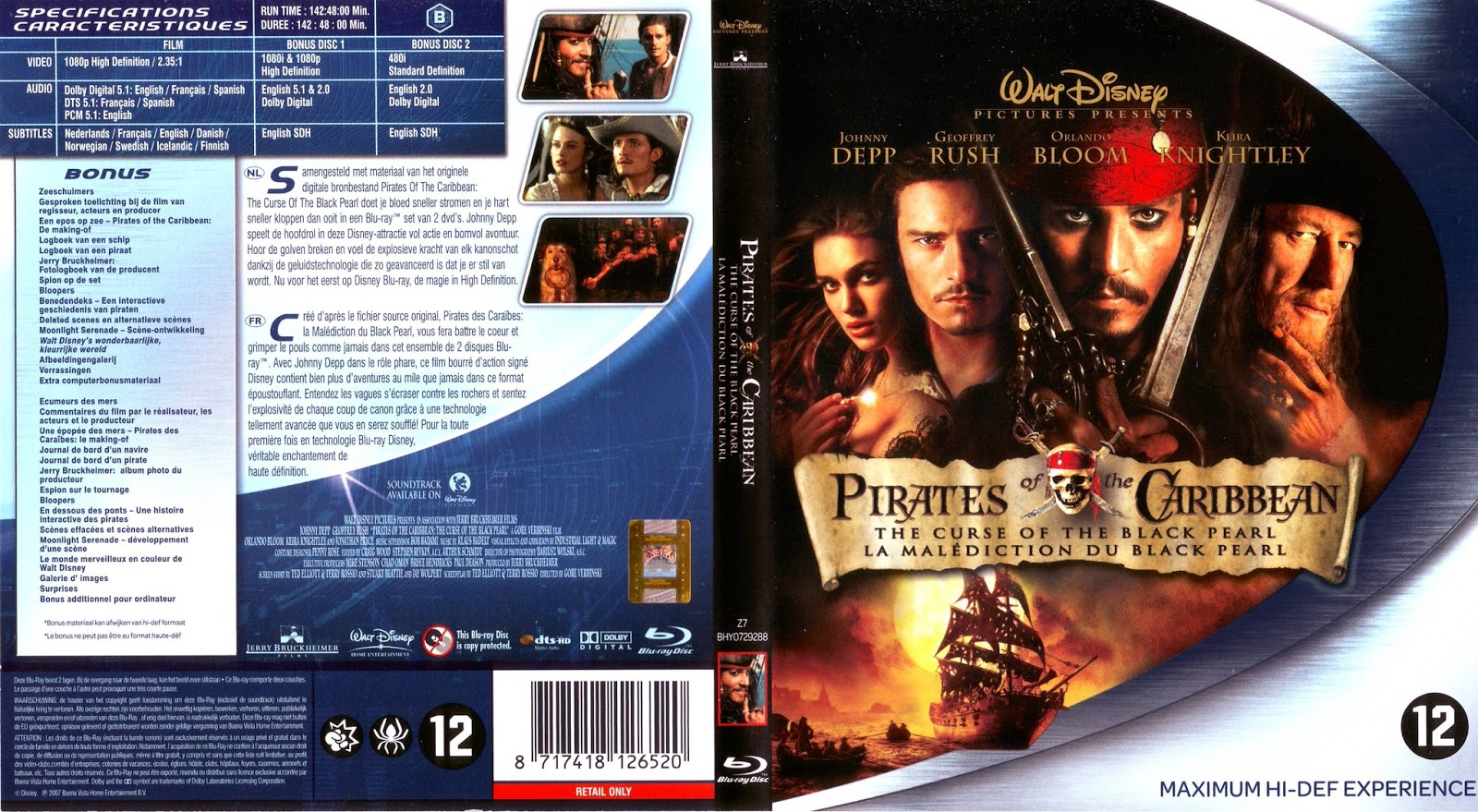 blu ray jaquettes blu ray pirates des cara bes la. Black Bedroom Furniture Sets. Home Design Ideas