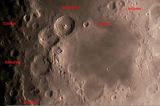 La Luna con telescopio