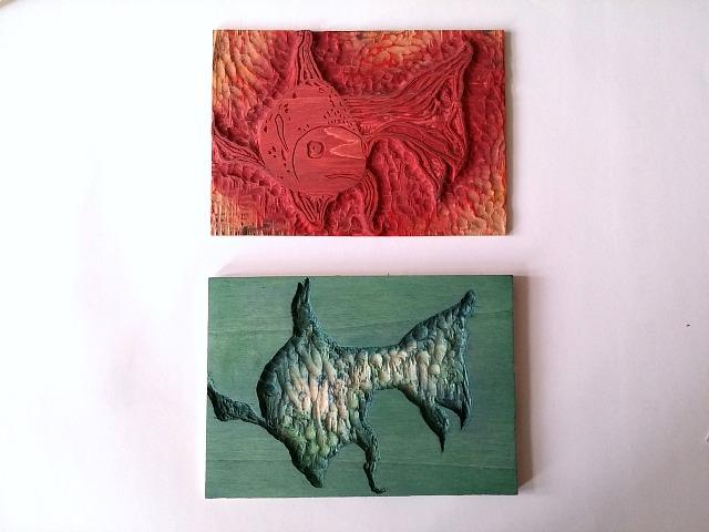 Puppilalla, DIY, Woodblock Printing, Druckstock