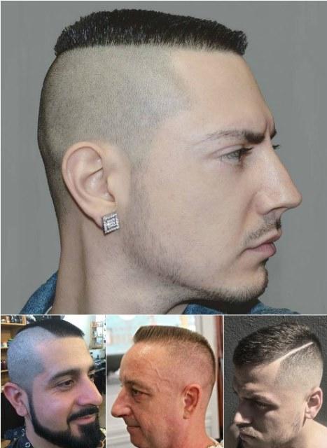 Model Rambut Ketat Botak Samping